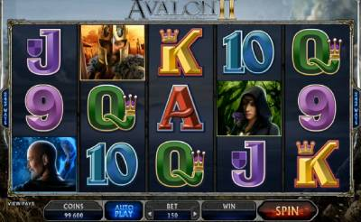 Avalon II is a King Arthur style slots which takes player through an ancient fantasy land to a long and bountiful journey
