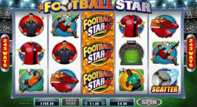 Football Star is one of the biggest game in Star series slot by Microgaming with a special feature knows as Rolling Reels.