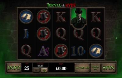 Jekyll and Hyde follows the classic story of the two-faced, two-sided doctor.It is a dark, brooding, and sinister slot with graphics that brings it to life.